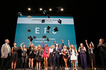 Actu EFJ - Emmanuel MACRON, parrain de la promotion 2016 de l'EFJ Paris