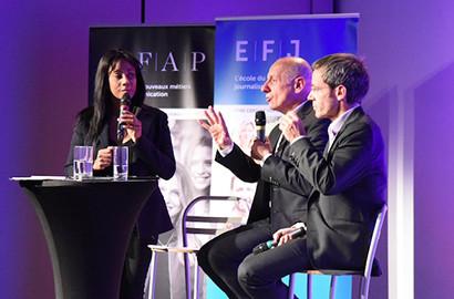 Actu EFJ - David Pujadas et Jean-Michel Aphatie en direct avec l'EFJ