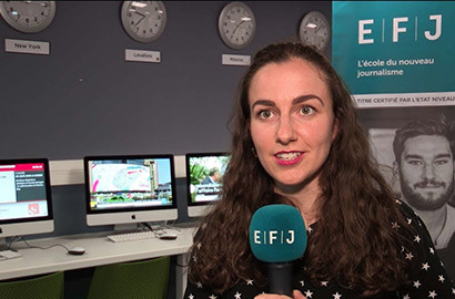 Actu EFJ - Temps forts de l'année pour Camille, étudiante en 2e année à l'EFJ