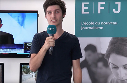 "Actu EFJ - Au coeur d'un stage de journalisme ""plurimédia"" TV, radio et web"