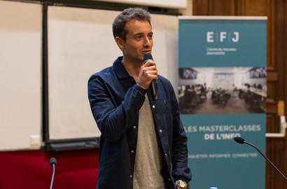 Actu EFJ - Hugo Clément, parrain de la promotion 2018 de l'école de journalisme EFJ!