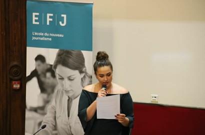 Actu EFJ - Une école de journalisme professionnalisante : le choix d'Amandine, en 3e année à l'EFJ Paris