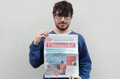 Actu EFJ - Gwendal en stage de journalisme dans un quotidien national