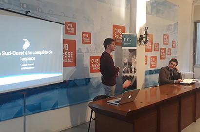 Actu EFJ - Le Club de la Presse de Bordeaux accueille les étudiants de l'EFJ
