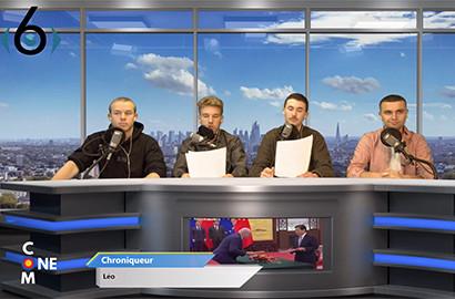 Actu EFJ - Diffusion TV Live : les étudiants sur le plateau d'une émission