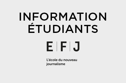 Actu EFJ - Message à l'attention des étudiants