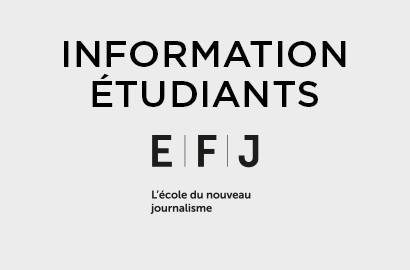 Actu EFJ - Message à l'attention des étudiants