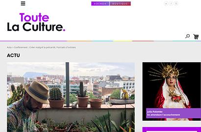 Actu EFJ - Rédaction d'articles pour le magazine culturel Toute la Culture