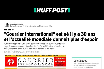 """Actu EFJ - Les 30 ans du """"Courrier International"""" décryptés par le Directeur de l'EFJ et co-fondateur du média!"""