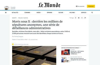 Actu EFJ - Grande Enquête de l'EFJ - Publication dans le journal Le Monde