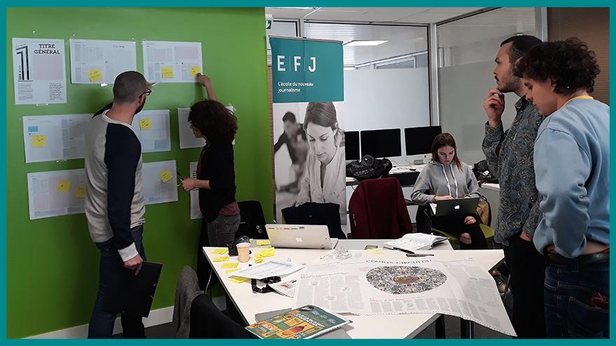 École de journalisme EFJ - Élaboration d'un journal papier