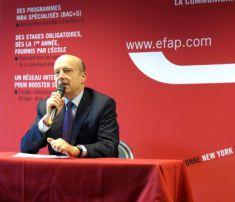 Alain Juppé accueille les étudiants en Journalisme de l'EFJ