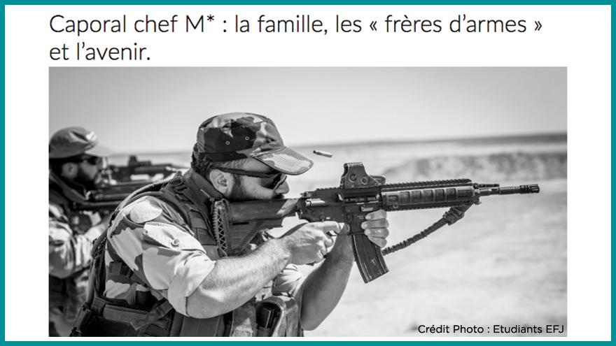 Ecole de journalisme EFJ - Reportage guerre Aqui.fr