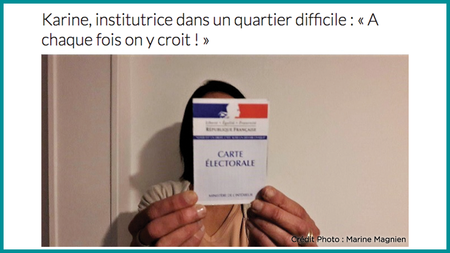 Ecole de journalisme EFJ - Karine institutrice Aqui.fr