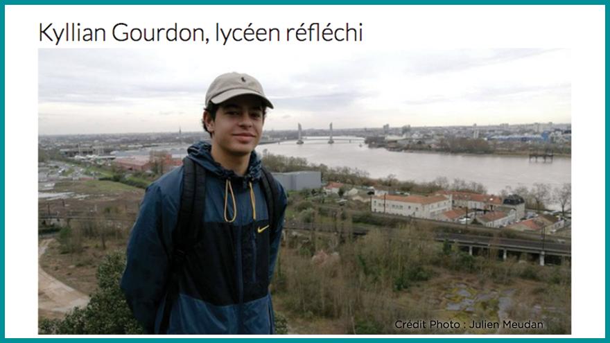 Ecole de journalisme EFJ - Kyllian Gourdon, lycéen réfléchi Aqui.fr
