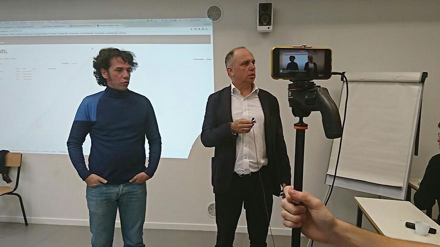 Le live de l'Equipe à l'EFJ école de journalisme
