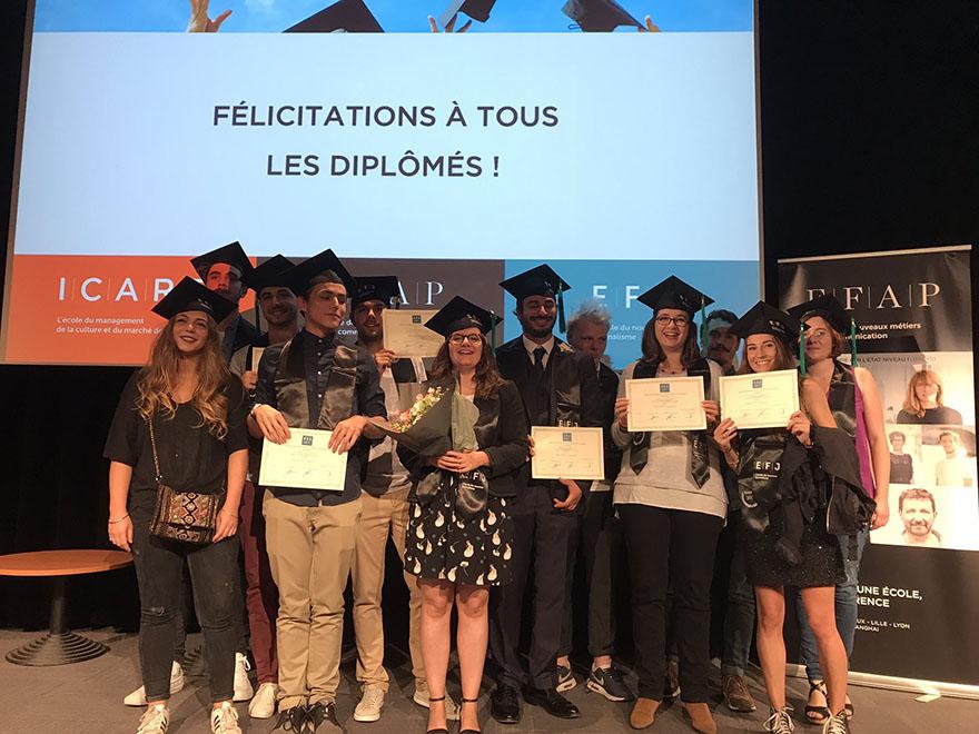 Ecole de journalisme Bordeaux - Remise des diplômes formation journalisme promo 2017