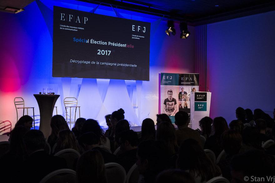 Formation journalisme EFJ - Interview David Pujadas et Jean-Michel Aphatie lors des présidentielles