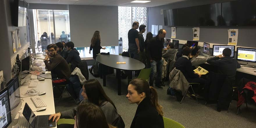Formation journalisme EFJ - Atelier web to print création d'un journal papier